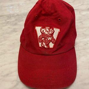 Wisconsin honey badger red hat